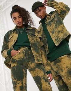 Вельветовая куртка цвета хаки в стиле унисекс COLLUSION-Зеленый