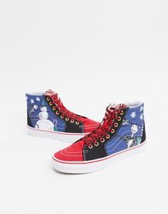 Разноцветные кроссовки Vans x Disney Nightmare Before Christmas SK8-Hi-Мульти