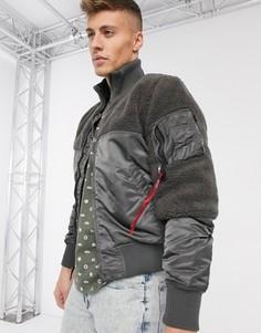 Нейлоновая куртка‑авиатор Alpha Industries-Серый