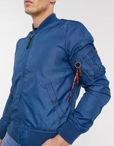 Нейлоновая куртка Alpha Industries MA-1-Синий