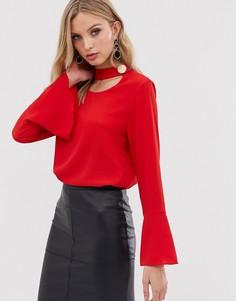 Блузка с длинными рукавами AX Paris-Красный
