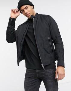 Черная байкерская куртка BOSS-Черный