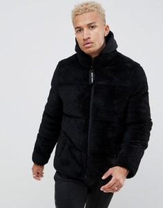 Дутая куртка из искусственного меха Night Addict-Черный