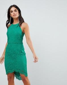 Кружевное платье с юбкой годе Adelyn Rae Louise-Зеленый