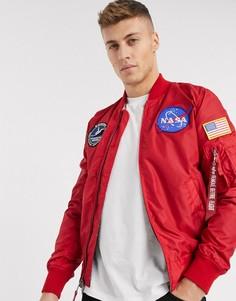 Двусторонняя нейлоновая куртка Alpha Industries-Красный