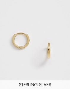 Позолоченные серьги-кольца в стиле хагги Astrid & Miyu mystic-Золотой