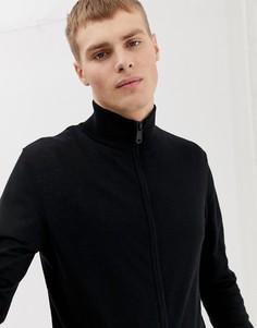 Черная обтягивающая спортивная куртка ASOS DESIGN-Черный