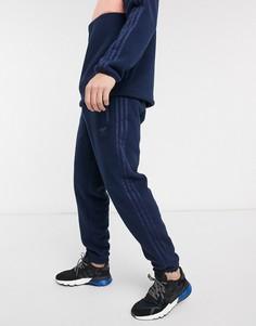 Темно-синие флисовые джоггеры adidas Originals-Темно-синий