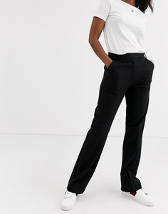 Строгие брюки прямого кроя ASOS DESIGN-Черный