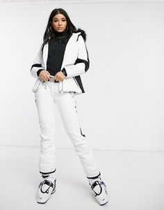 Белые горнолыжные брюки Dare 2b X Julien Macdonald Ladyship-Белый