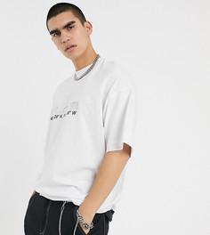Oversize-футболка со стразами COLLUSION-Белый