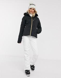 Дутая лыжная куртка черного цвета Roxy Snow Snowstorm-Черный