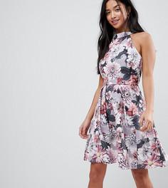 Короткое приталенное платье с цветочным принтом Paper Dolls Petite-Мульти