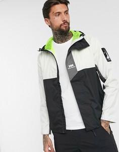 Черно-белая куртка-дождевик Helly Hansen-Белый