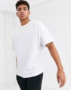 Белая свободная футболка с круглым вырезом ASOS DESIGN-Белый