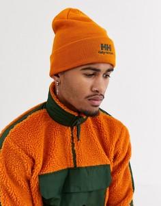 Оранжевая шапка-бини с логотипом хаки Helly Hansen-Оранжевый