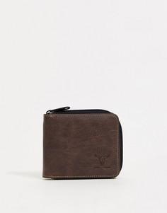 Бумажник на молнии Hyde & Tanner-Коричневый