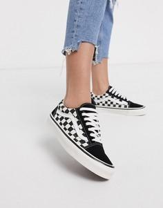 Черные кроссовки в клетку Vans Anaheim Old Skool 36 DX-Черный