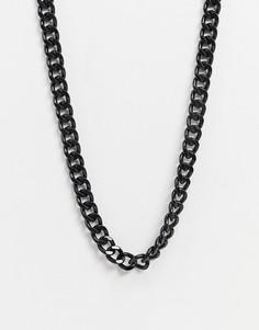 Черная цепочка ASOS DESIGN-Черный