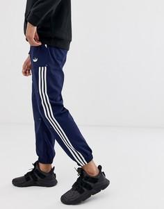 Темно-синие брюки с карманами карго adidas Originals-Темно-синий