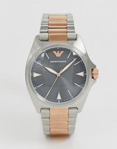Наручные часы Emporio Armani - AR11256 Nicola (40 мм)-Серебряный