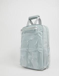 Серый рюкзак с прозрачными карманами SVNX 7X