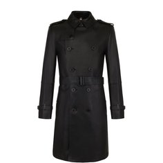 Пальто и плащи Burberry Кожаный тренч с поясом Burberry