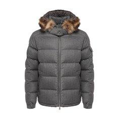 Куртки Moncler Шерстяной пуховик с меховой отделкой Allemand Moncler