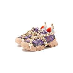 Кроссовки Gucci Комбинированные кроссовки Flashtrek Gucci