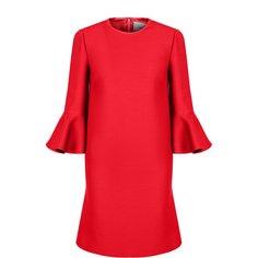 Платья Valentino Мини-платье с расклешенными рукавами и круглым вырезом Valentino