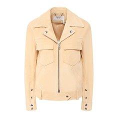 Куртки Chloé Кожаная куртка Chloé