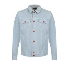 Куртки Kiton Джинсовая куртка с контрастными пуговицами Kiton