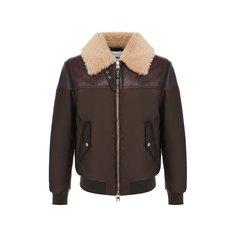 Куртки Alexander McQueen Комбинированный бомбер Alexander McQueen