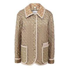 Куртки Burberry Куртка из смеси шелка и хлопка Burberry