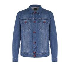 Куртки Kiton Джинсовая куртка с декоративными потертостями Kiton