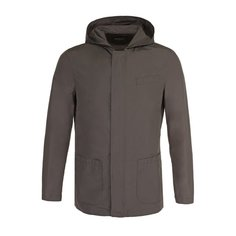 Куртки Kiton Куртка с добавлением шелка на молнии с капюшоном Kiton