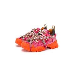 Кроссовки Gucci Текстильные кроссовки Flashtreck Gucci