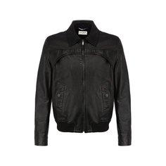 Куртки Saint Laurent Кожаный бомбер Saint Laurent