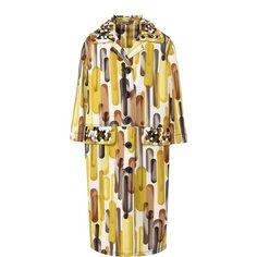Пальто и плащи Bottega Veneta Хлопковое пальто с принтом и укороченным рукавом Bottega Veneta