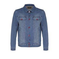 Куртки Kiton Джинсовая куртка с отложным воротником и контрастными пуговицами Kiton