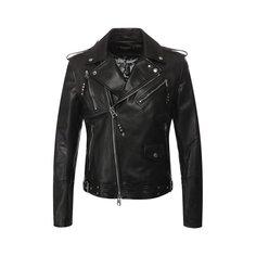 Куртки Alexander McQueen Кожаная куртка на косой молнии Alexander McQueen
