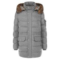 Куртки Moncler Утепленная парка на молнии с капюшоном Moncler