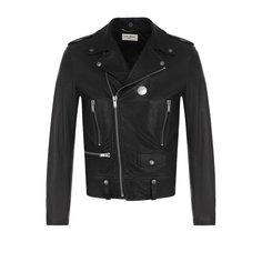 Куртки Saint Laurent Кожаная куртка с косой молнией Saint Laurent