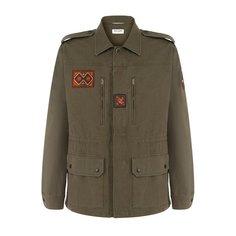Куртки Saint Laurent Куртка на молнии с нашивками Saint Laurent