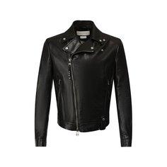 Куртки Alexander McQueen Кожаная куртка Alexander McQueen