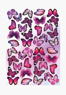 Наклейка декоративная Decoretto Неоновые бабочки