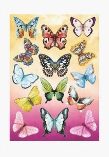 Наклейка декоративная Decoretto Большие дневные бабочки