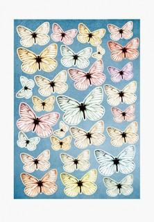 Наклейка декоративная Decoretto Воздушные бабочки