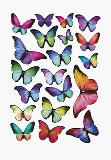 Наклейка декоративная Decoretto Цветные бабочки