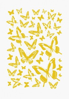 Наклейка декоративная Decoretto Золотые бабочки